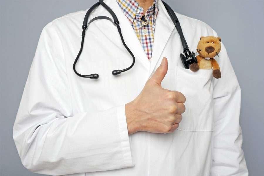 Foto di un pediatra